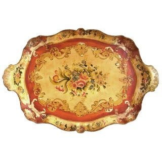 Early 20th Century Vintage Papier Mache Tray For Sale