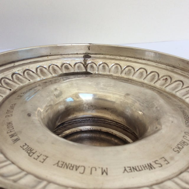 Antique English Sterling Silver Punch Bowl For Sale - Image 4 of 11