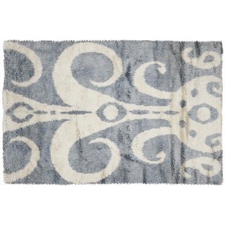 """Nalbandian - Contemporary Egyptian Tulu Carpet - 6'7"""" X 9'11"""" For Sale"""
