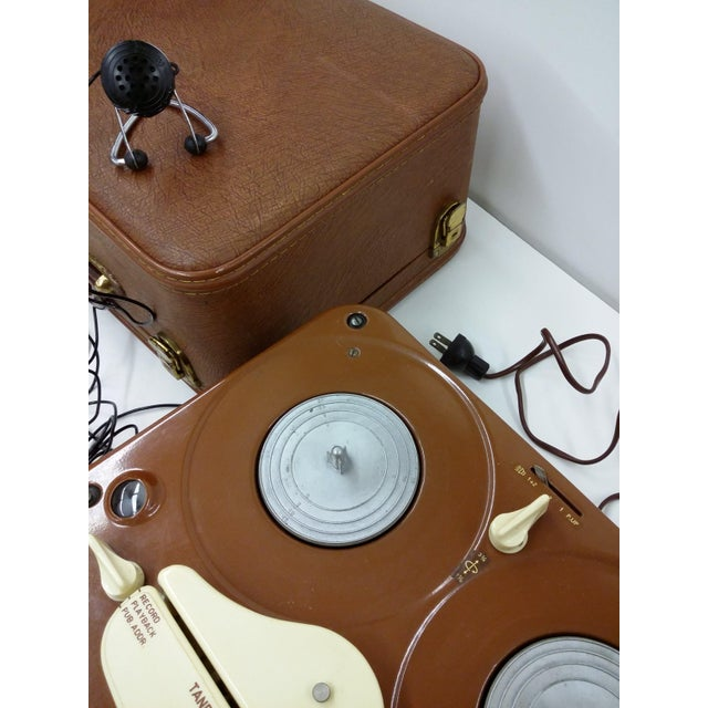 Brown Vintage Collectible Tandberg Radiofabrikk Reel to Reel Tape Recorder For Sale - Image 8 of 10