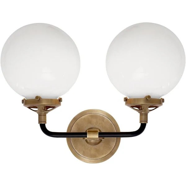 Visual Comfort Bistro Sconce in Antiqued Brass For Sale In New York - Image 6 of 6