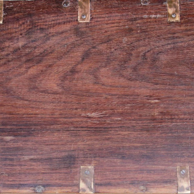 Early 20th Century Wooden Campaign Trunk For Sale - Image 5 of 6