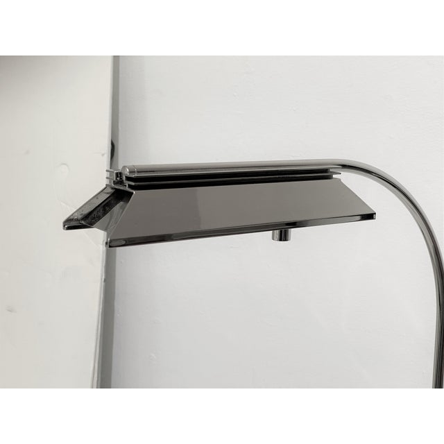 Casella Casella Floor Lamp Nickel Plated For Sale - Image 4 of 10