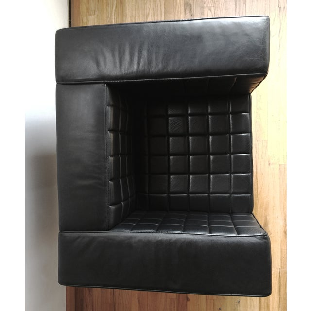 Custom Leather Tufted Club Chair - Image 7 of 8