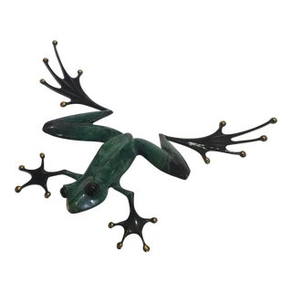 Bronze Frog Figure Ltd Ed Signed and Numbered by Tim Cotterill 1992 For Sale