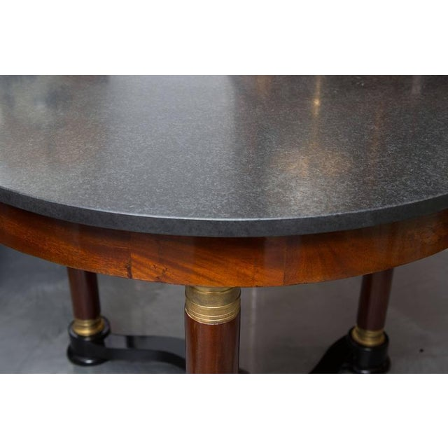 Marble 19th Century French Empire Center Table For Sale - Image 7 of 8