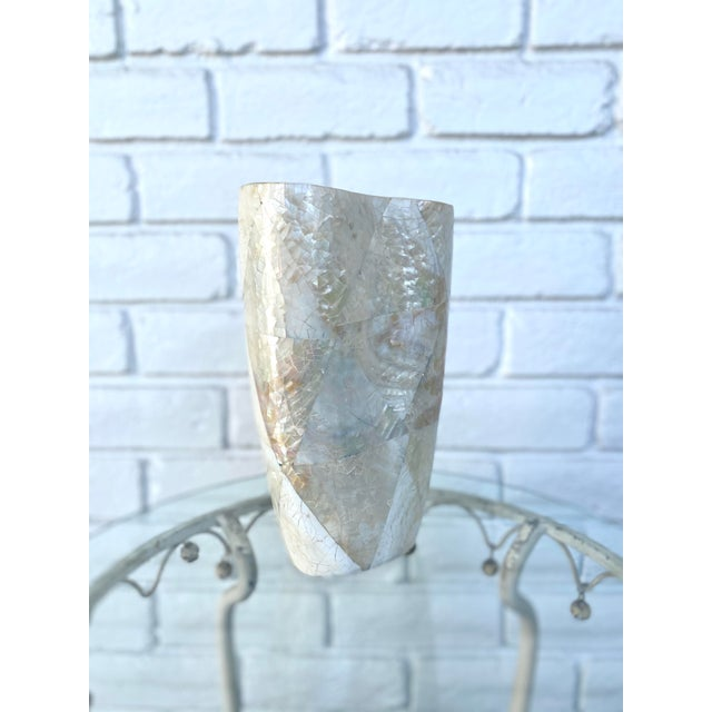 Art Deco Mother of Pearl Vase For Sale - Image 3 of 9