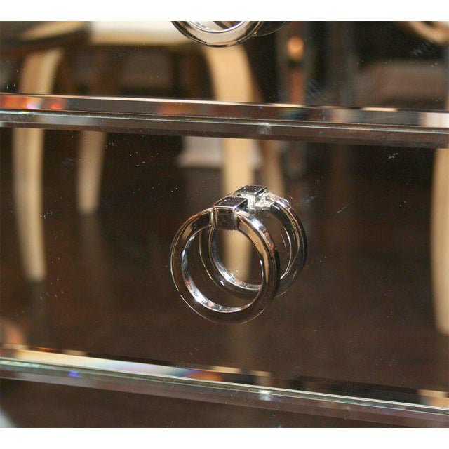 Pair of Custom Mirrored End Tables For Sale In New York - Image 6 of 9