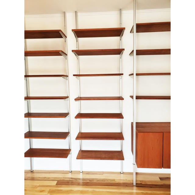1980s A Mid Century Modern Wall Unit Bookshelves System For Sale - Image 5 of 11