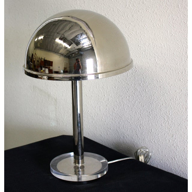 Charles Hollis Jones Chrome Dome Lamp - Image 3 of 3