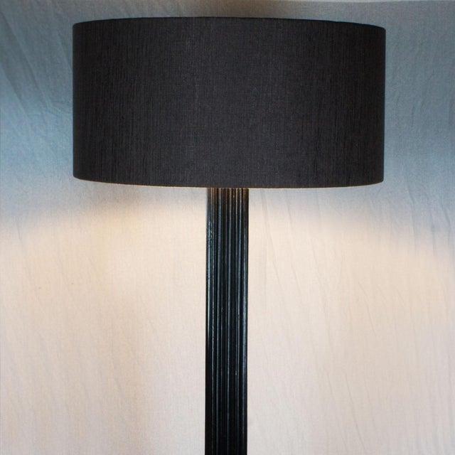 1960s Standing Lamp, Striated Walnut Stand, Brass, Jordi Vilanova - Barcelona For Sale - Image 9 of 10