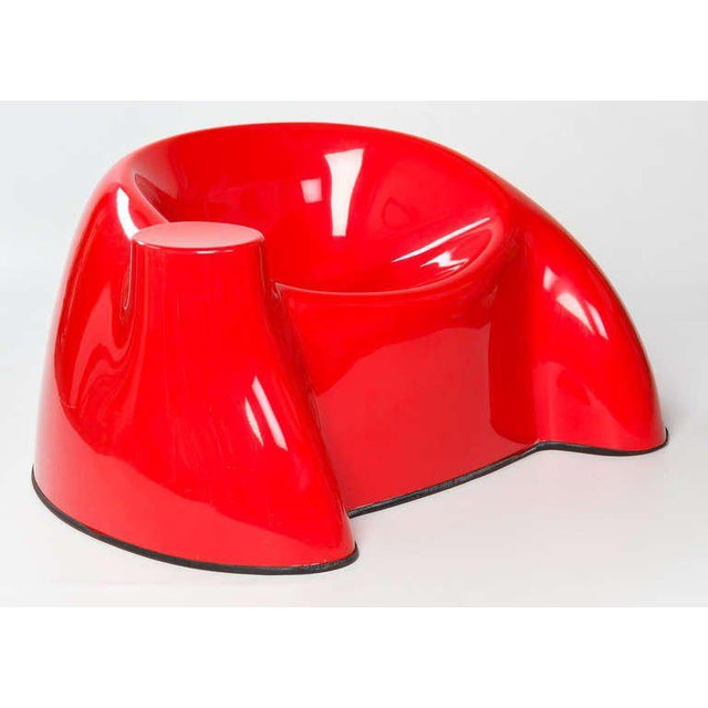 Red Early Wendell Castle Armchair, Circa 1969 For Sale - Image 8 of 9
