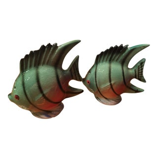 Vintage Tropical Fish Salt and Pepper Shakers For Sale