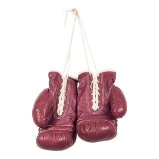 Vintage Jc Higgins Leather Boxing Gloves C.1950-1960 For Sale