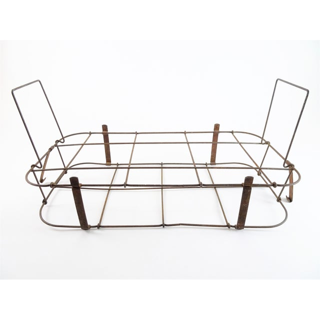 1930s Rustic Wire Basket With Handle For Sale - Image 11 of 11