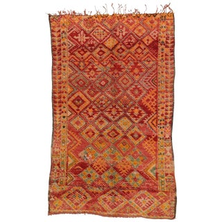 20th Century Moroccan Berber Rug with Diamond Pattern - 5'9 X 9'7 For Sale