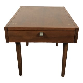 American of Martinesville Walnut Side Table For Sale