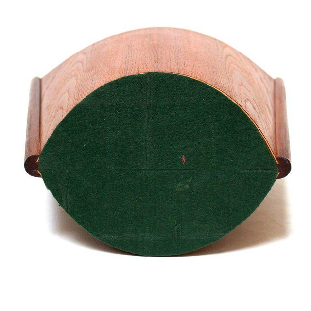 1960s Einar Barnes for P. S. Heggen Teak Wastepaper Basket - Image 7 of 11