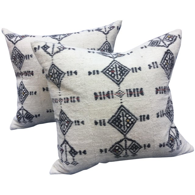 African Fulani Textile Pillows - A Pair - Image 1 of 6