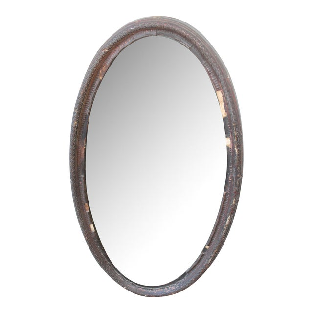Antique Oval Mirror For Sale
