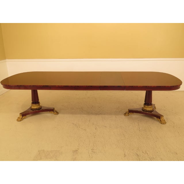 1990s Vintage Kindel NeoClassical Mahogany Dining Room Table For Sale - Image 13 of 13