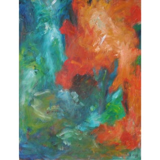 1963 Abstract Expressionist Painting For Sale