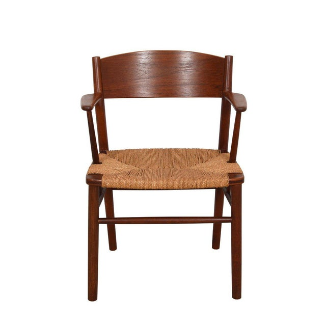 Mid-Century Modern Borge Mogensen Set of 10 (2 Arm + 8 Side) Danish Teak Dining Chairs For Sale - Image 3 of 9
