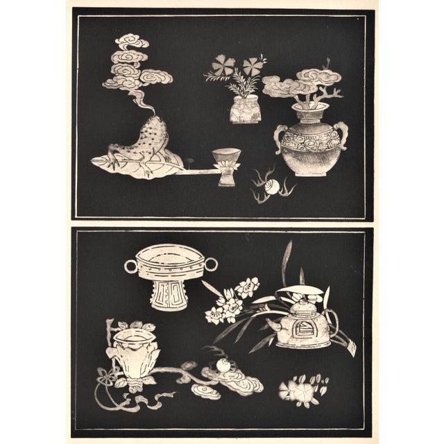 Art Deco Asian Botanical Design Print For Sale - Image 4 of 5