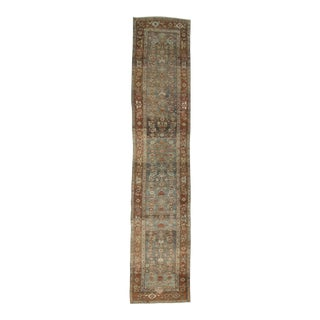Washed Out Distressed Persian Mahal Runner - 3′5″ × 16′2″