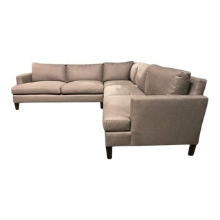 Contemporary Barbara Barry for Henredon Beige Sectional Sofa