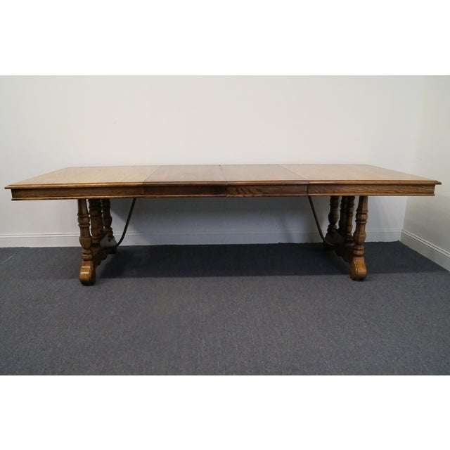 Brown 20th Century Spanish Revival Thomasville Segovia Dining Table For Sale - Image 8 of 11
