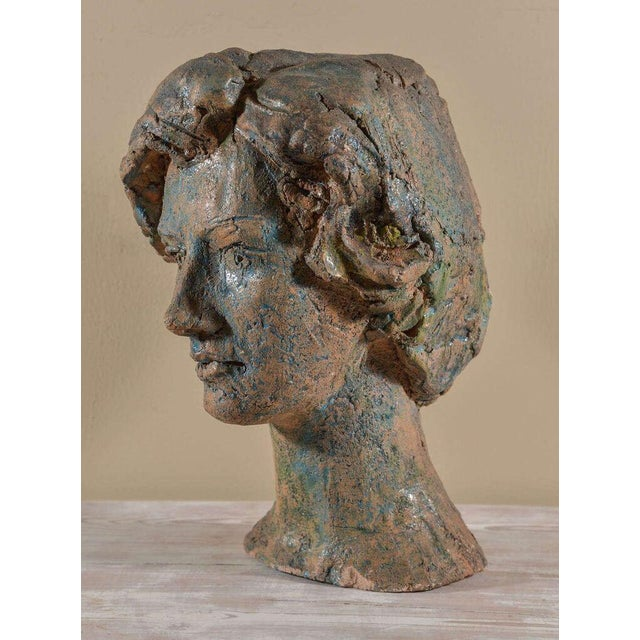 Italian Painted Chalkware Bust For Sale - Image 4 of 6