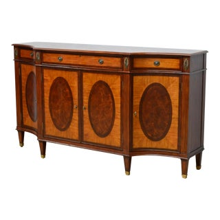 Early 20th Century Ethan Allan Mahogany Inlaid Sideboard For Sale