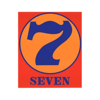 Robert Indiana, Seven, 1997 Serigraph For Sale