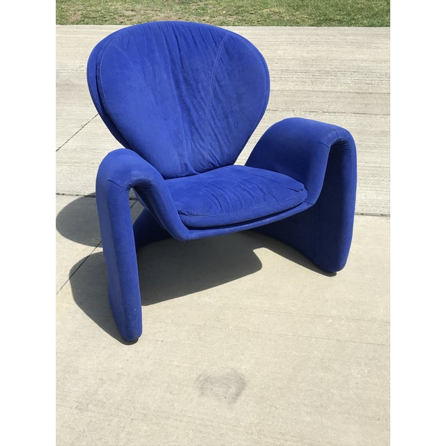 1980s Vintage Post Modern Curvy Accent Chair For Sale - Image 10 of 10