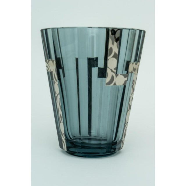 This stylish Art Deco vase is very much in the manner of pieces created by Joseph Hoffman and it was acquired from a Palm...