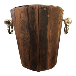 Wooden Rustic Style Ice Bucket For Sale
