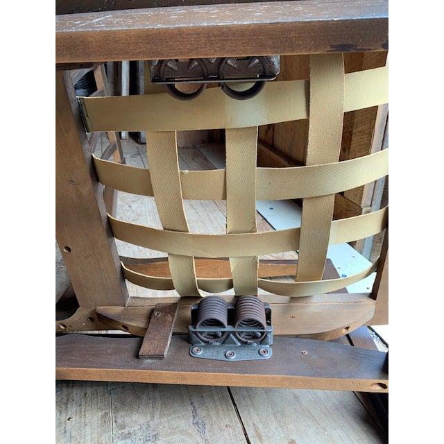 Wood Mid Century Danish Modern Rocker Chair For Sale - Image 7 of 8