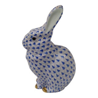1980s Herend Porcelain Sitting Rabbit For Sale