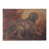 """Image of Antique 19th Century """"Tiger"""" Oil on Canvas Painting For Sale"""