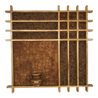 1980's Pencil Reed Wall Sculpture For Sale