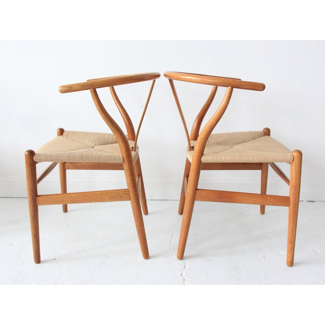 Vintage Hans Wegner Wishbone Chairs - Set of 4 - Image 3 of 10