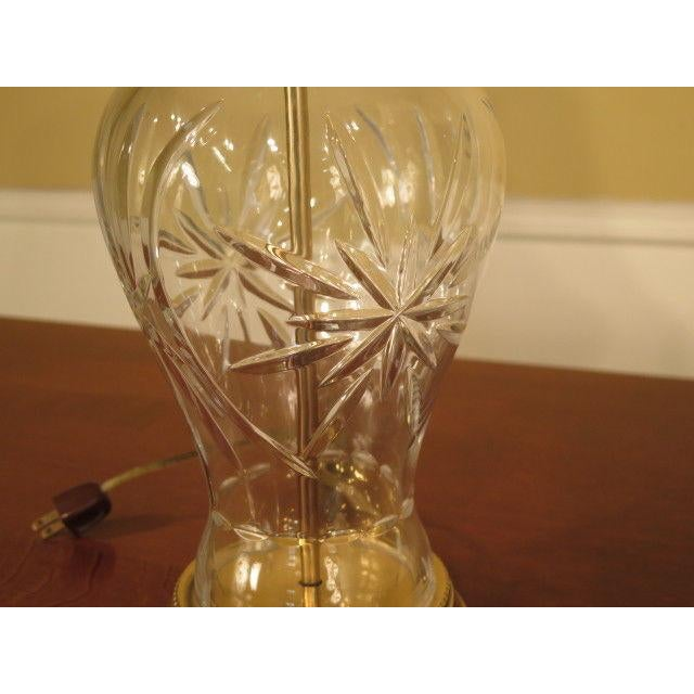 Waterford Waterford Crystal & Brass Table Lamps - a Pair For Sale - Image 4 of 10