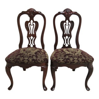 Thomasville Solid Mahogany Chippendale Dining Chairs - A Pair