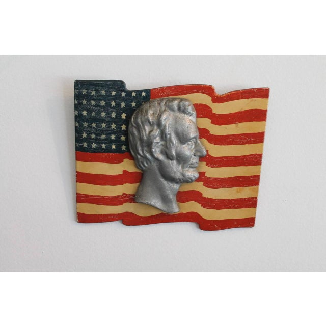 Early Folk Art 48-Star Original Painted Patriotic Parade Flag - Image 3 of 4