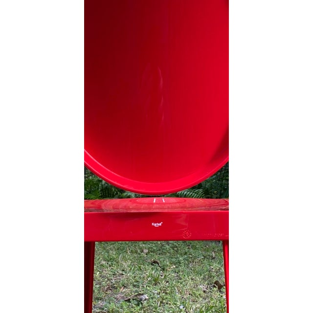 2010s Victoria Ghost Red Chair Phillip Starck for Kartell For Sale - Image 5 of 8