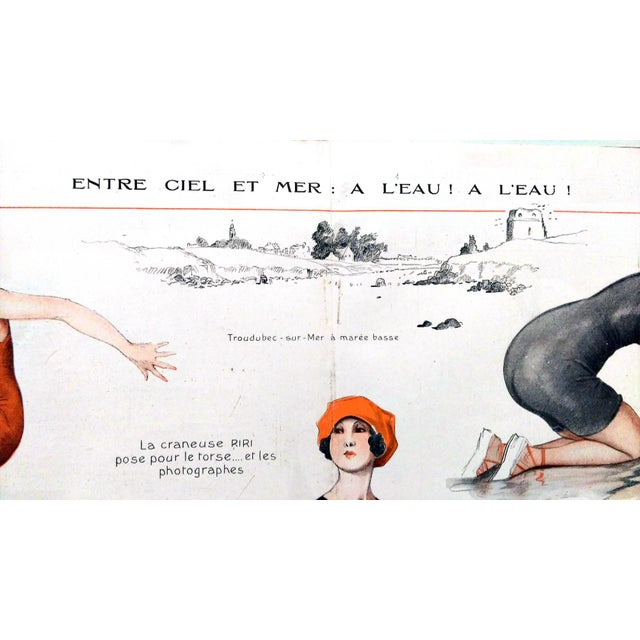 1918 La Vie Parisienne Bathing Beauty Print - Image 2 of 7