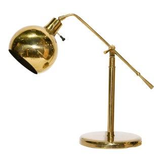 Gunnar Adolfson Vermont Follet 1940 Brass Desk Lamp