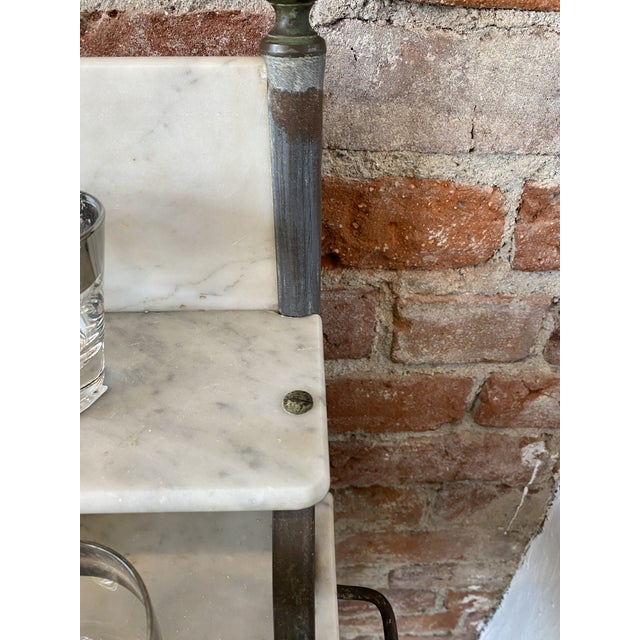 Metal Antique Zinc and Marble Dry Sink Basin For Sale - Image 7 of 11