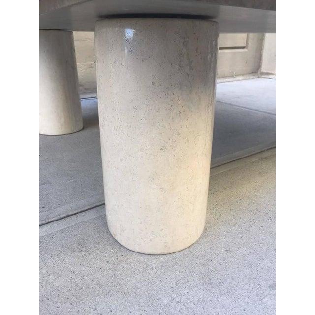 Mario Bellini Large Mario Bellini Italian Marble Coffee Table For Sale - Image 4 of 5